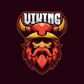 Modello di logo di viking e-sport