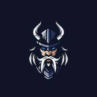 Modello di logo del team e-sports di viking