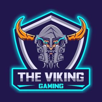 Modello di logo di viking esport