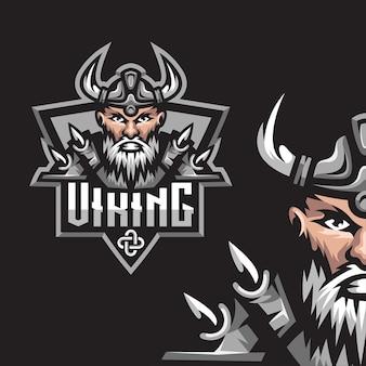 Logo della mascotte del gioco vichingo