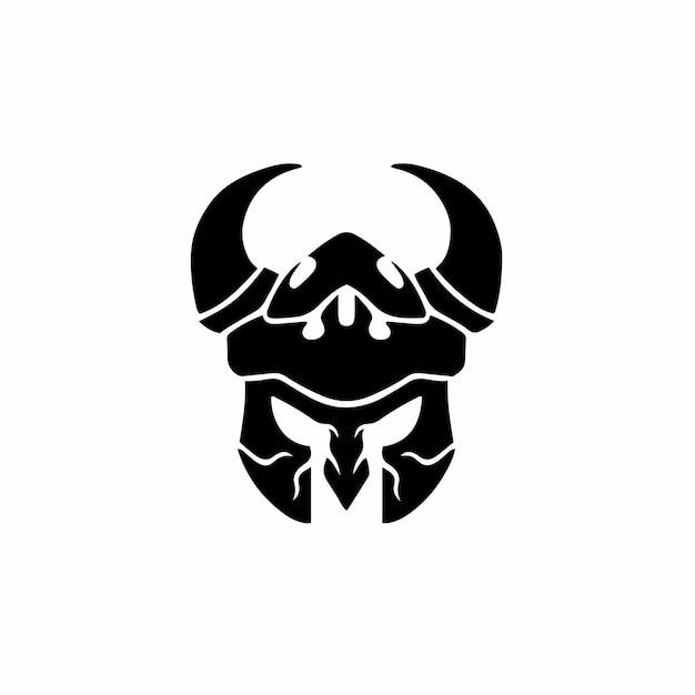 Illustrazione di vettore dello stencil di disegno del tatuaggio del logo vichingo
