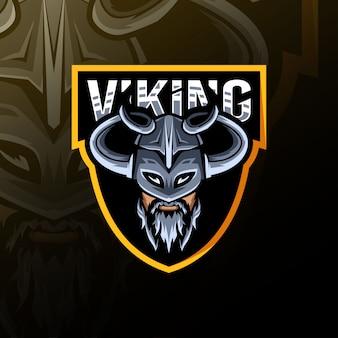 Viking mascot logo esport