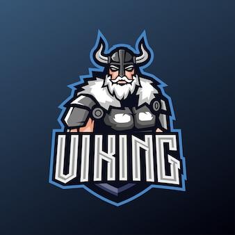 Mascotte vichinga per lo sport e il logo esport