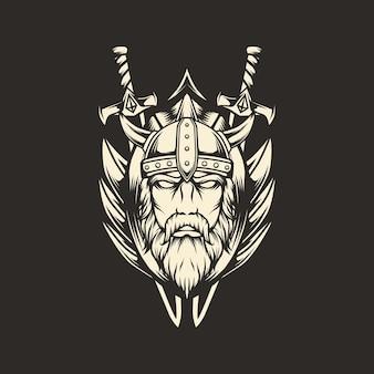 Illustrazione di spada vichinga