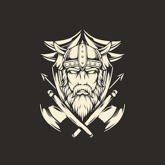 Vichingo con ascia emblema