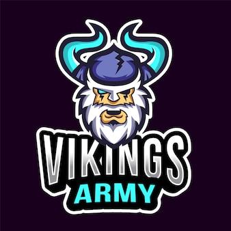 Logo esport dell'esercito dei vichinghi