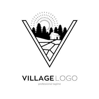 Design del logo del villaggio