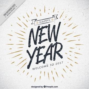 Vintage 2017 anno nuovo sfondo Vettore Premium