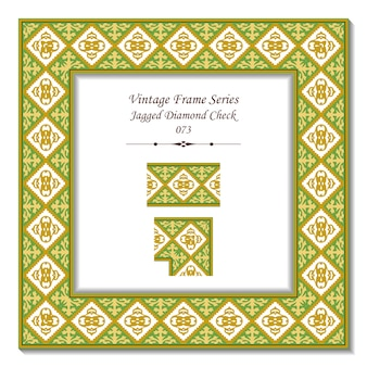 Cornice vintage 3d di jagged diamond check