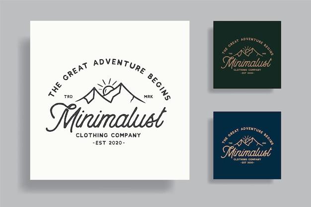 Premium design tshirt distintivo avventura vintage