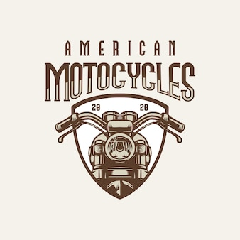 Logo vintage americano grande motocicletta