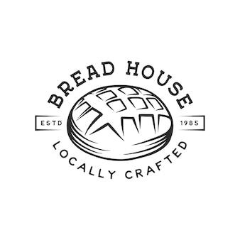 Logo del negozio di panetteria vintage
