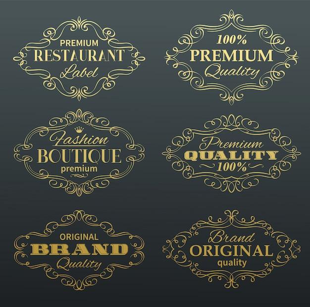 Cornici per etichette banner vintage.