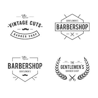 Etichetta d'annata del negozio di barbiere