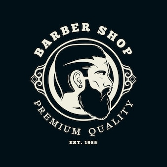 Logo del negozio di barbiere vintage