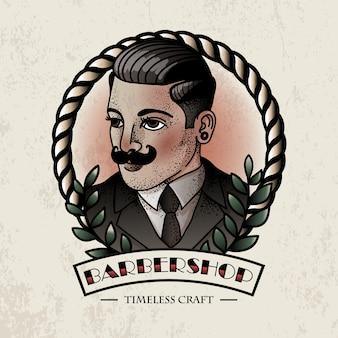 Illustrazione vintage barbershop