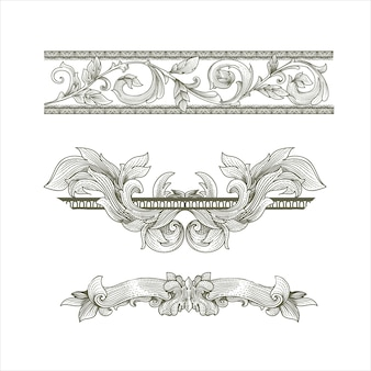Set di cornici vittoriane barocche vintage