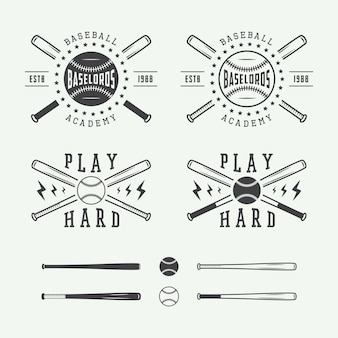 Loghi di baseball vintage