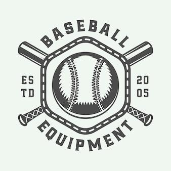 Emblema del logo sportivo vintage baseball