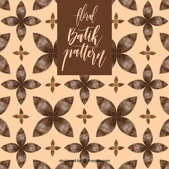Modello batik dell'annata con i fiori