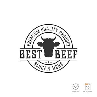 Design del logo vintage barbecue o grill