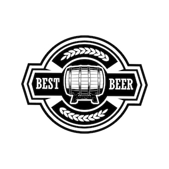 Illustrazione di etichetta di birra vintage