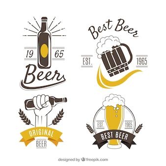 Collezione logo birra vintage
