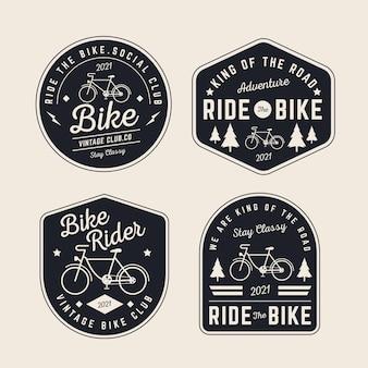 Collezione logo bici vintage
