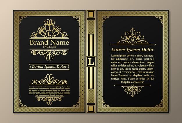 Layout di libri vintage dal design creativo