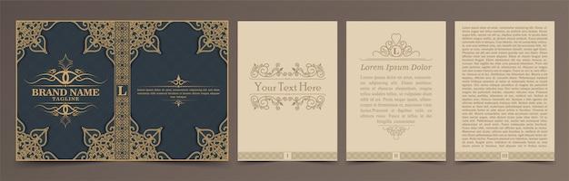 Set di layout di libri d'epoca