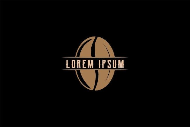 Vintage brown coffee bean per cafe restaurant o etichetta del prodotto logo design vector