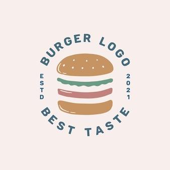 Vettore modello logo hamburger vintage