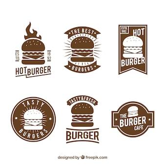 Logo dell'hamburger dell'annata