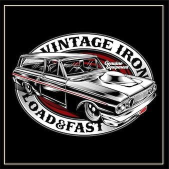 Grafica di illustrazione auto d'epoca