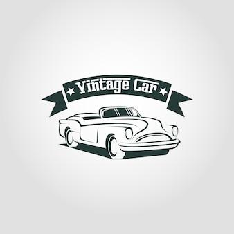 Modello di logo auto d'epoca