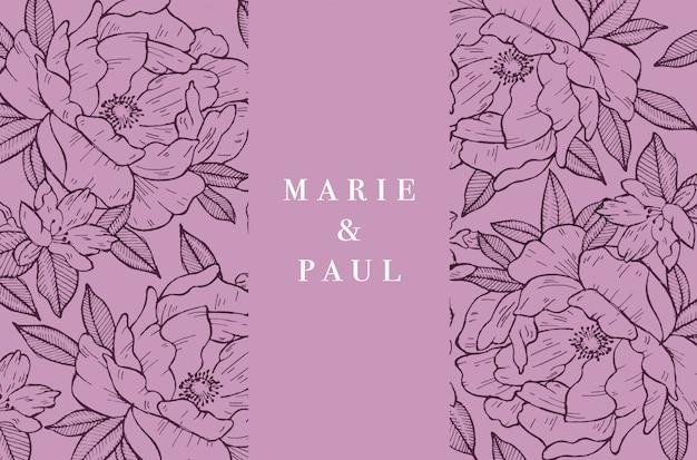 Carta d'epoca con fiori rose. ghirlanda floreale. cornice floreale per invito a nozze. cartolina d'auguri rosa floreale di estate. sfondo di fiori.