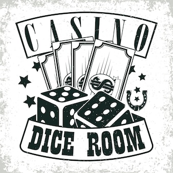 Design del logo del casinò vintage