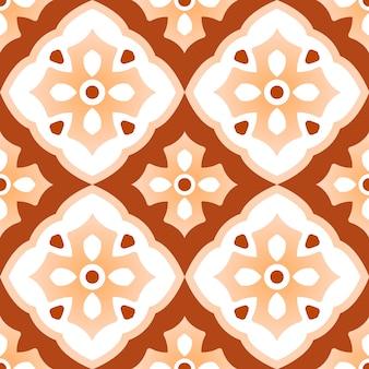 Modello di piastrelle di ceramica d'epoca con patchwork colorato, bello stile decorativo design indiano senza soluzione di continuità