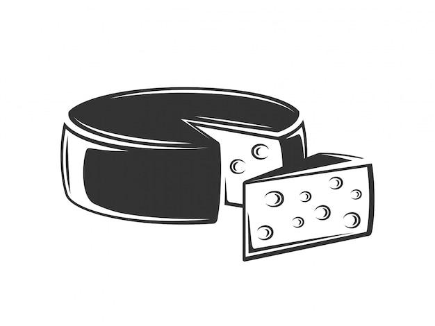 Illustrazione isolata formaggio dell'annata