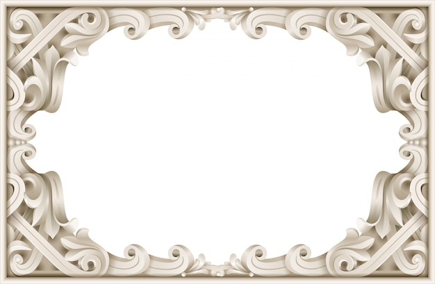 Cornice classica vintage del barocco rococò
