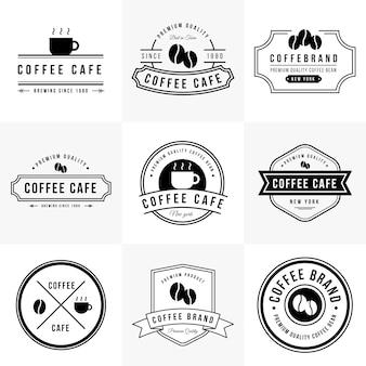 Collezione di marchio vintage coffee cafe
