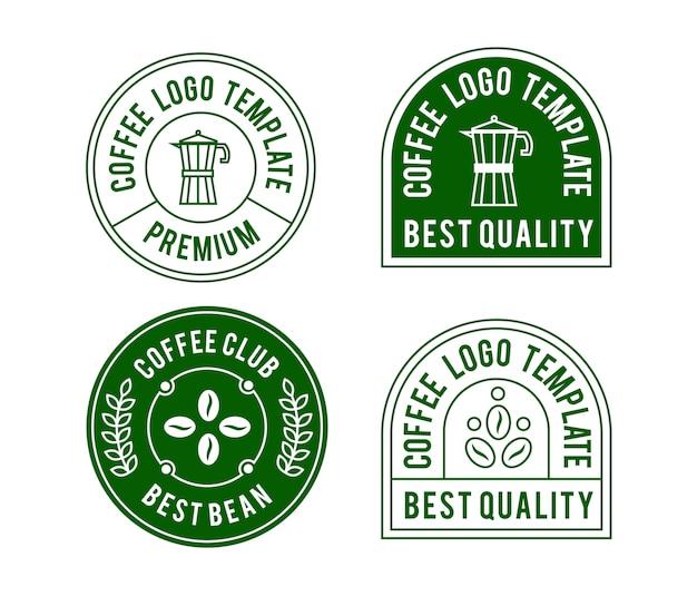 Disegno del modello di logo caffè vintage
