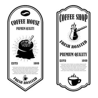 Modelli di volantini vintage coffee shop