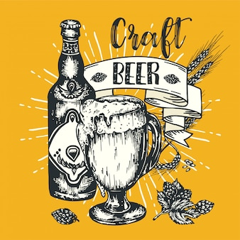 Manifesto di birra artigianale d'epoca