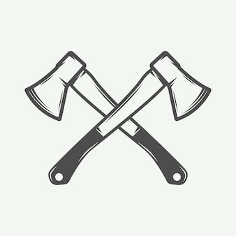 Assi trasversali vintage in stile retrò può essere utilizzato per il timbro o il marchio dell'etichetta del distintivo dell'emblema del logo