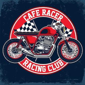 Distintivo di moto custom vintage