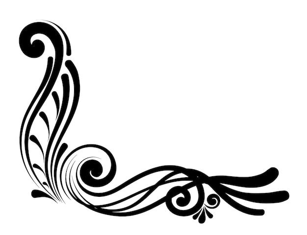Bordi calligrafici decorativi vintage. segnaletica modello, loghi, etichette, adesivi, carte. elementi di design classico per biglietti di auguri, diplomi, certificati e premi. pagina di progettazione grafica.