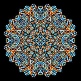 Elementi decorativi vintage con motivo orientale. modello di yoga. mandala. islam, cultura araba indiana turca e pakistana. illustrazione vettoriale