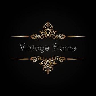 Disegno vettoriale vintage cornice decorativa