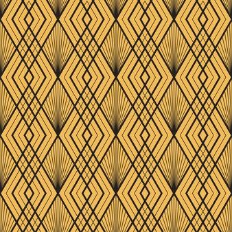 Struttura geometrica oro decorativo vintage